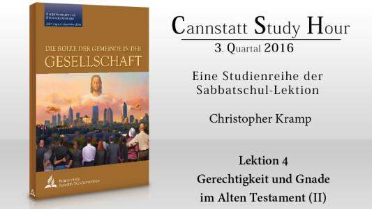 'Die Rolle der Gemeinde in der Gesellschaft (CSH 2016 Q1): 4. Gerechtigkeit und Gnade im Alten Testament (II)' ansehen