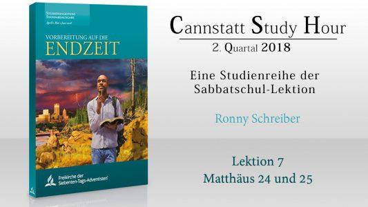 'Vorbereitung auf die Endzeit (CSH 2018 Q2): 7. Matthäus 24 und 25' ansehen