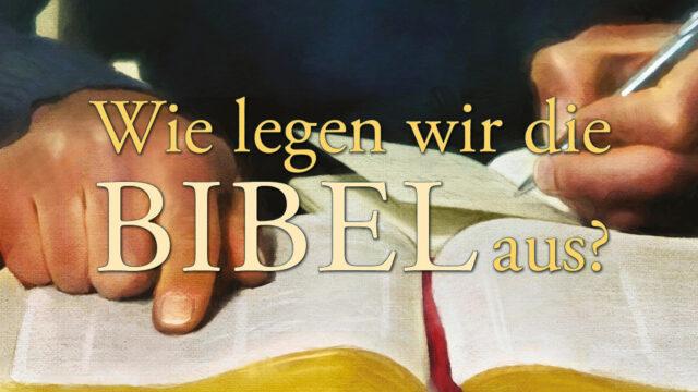 Image of Cannstatt Study Hour 2020 Q2: Wie legen wir die Bibel aus?